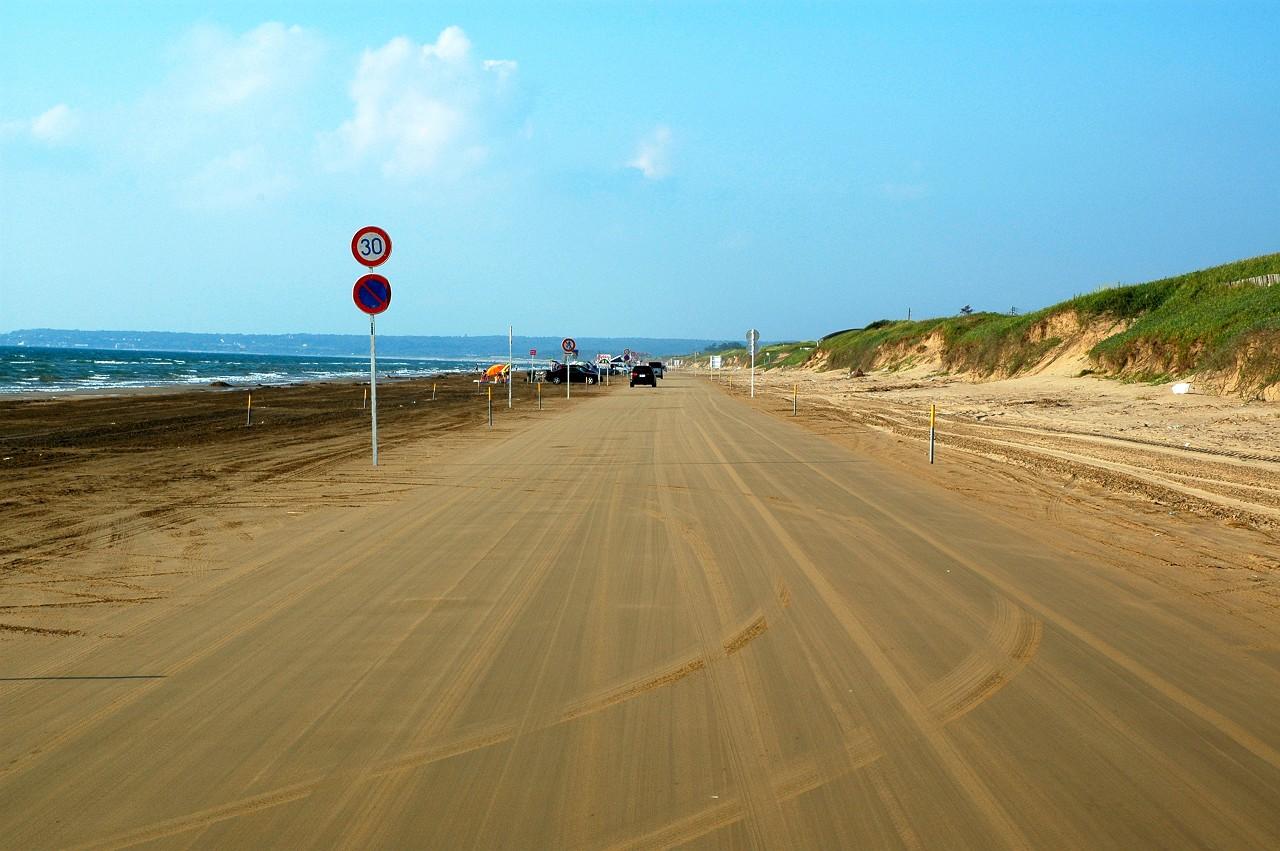 千里浜なぎさドライブウェイの標識